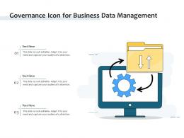 Governance Icon For Business Data Management