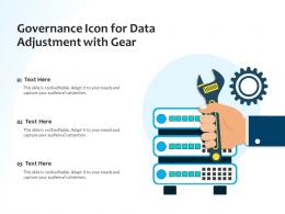 Governance Icon For Data Adjustment With Gear