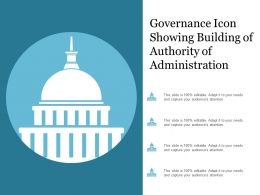 Governance Icon Showing Building Of Authority Of Administration