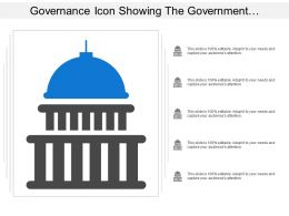 Governance Icon Showing The Government Building Of Administration