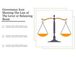 Governance Icon Showing The Law Of The Lever Or Balancing Beam