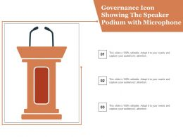 Governance Icon Showing The Speaker Podium With Microphone