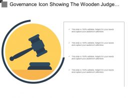 Governance Icon Showing The Wooden Judge Hammer