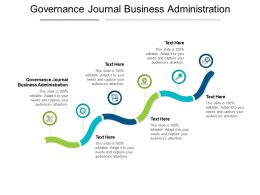 Governance Journal Business Administration Ppt Powerpoint Presentation Microsoft Cpb