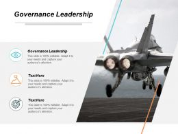 Governance Leadership Ppt Powerpoint Presentation Gallery Graphics Cpb