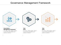 Governance Management Framework Ppt Powerpoint Presentation File Influencers Cpb