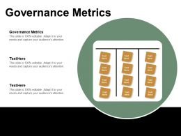 Governance Metrics Ppt Powerpoint Presentation Icon Skills Cpb