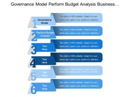 Governance Model Perform Budget Analysis Business Initiatives Entire Business Community