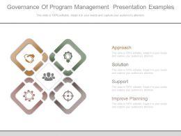 Governance Of Program Management Presentation Examples