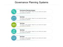 Governance Planning Systems Ppt Powerpoint Presentation Styles Clipart Images Cpb