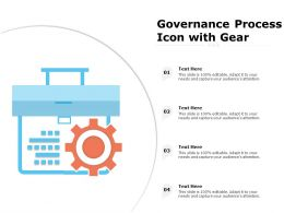 Governance Process Icon With Gear