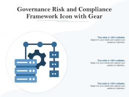 Governance Risk And Compliance Framework Icon With Gear