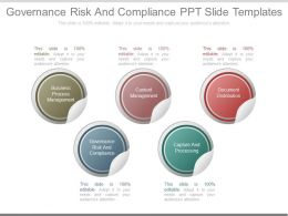 Governance Risk And Compliance Ppt Slide Templates