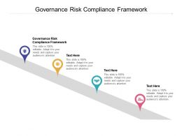 Governance Risk Compliance Framework Ppt Powerpoint Presentation Show Cpb