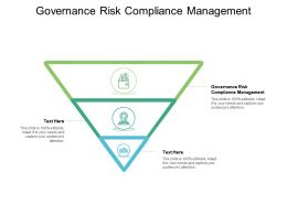 Governance Risk Compliance Management Ppt Powerpoint Presentation Show Design Templates Cpb