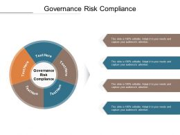 Governance Risk Compliance Ppt Powerpoint Presentation Infographic Template Pictures Cpb