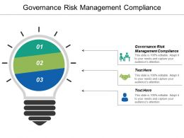 Governance Risk Management Compliance Ppt Powerpoint Presentation Ideas Gallery Cpb