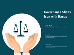 Governance Slides Icon With Hands