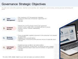 Governance Strategic Objectives Ppt Powerpoint Presentation Slides Layouts