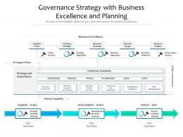 Governance Strategy With Business Excellence And Planning