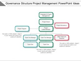 Governance Structure Project Management Powerpoint Ideas