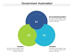 Government Automation Ppt Powerpoint Presentation Icon Picture Cpb