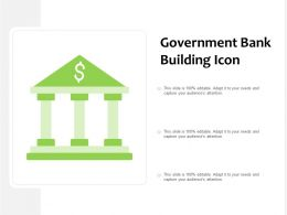 Government Bank Building Icon