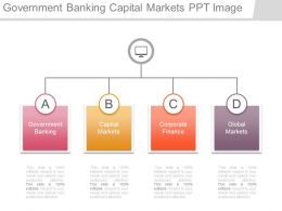 Government Banking Capital Markets Ppt Image