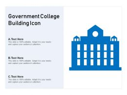 Government College Building Icon