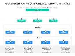 Government Constitution Organization For Risk Taking Infographic Template