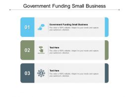 Government Funding Small Business Ppt Powerpoint Presentation Infographic Cpb