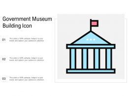 Government Museum Building Icon