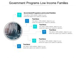 Government Programs Low Income Families Ppt Powerpoint Presentation Inspiration Cpb