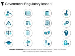 Government Regulatory Icons 1 Sample Of Ppt Presentation