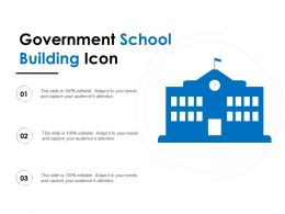 Government School Building Icon