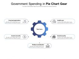 Government Spending In Pie Chart Gear