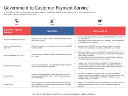 Government To Customer Payment Service Electronic Government Processes Ppt Portrait