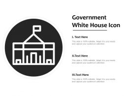 Government White House Icon