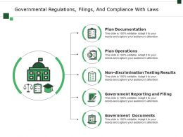 Governmental Regulations Filings And Compliance With Laws Ppt Diagrams