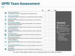 Gpri Team Assessment Ppt Summary Example Introduction