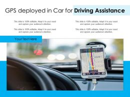 GPS Deployed In Car For Driving Assistance