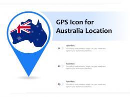 GPS Icon For Australia Location
