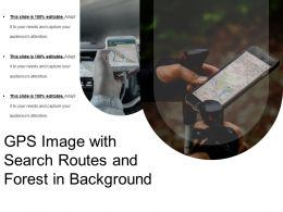 Gps Image With Search Routes And Forest In Background