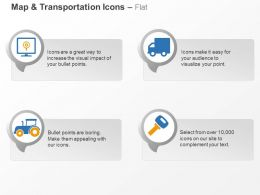 Gps Locater Truck Tractor Key Ppt Icons Graphics