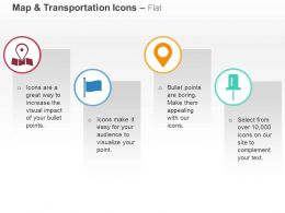 Gps Location Flag Indicator Ppt Icons Graphics