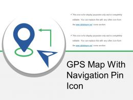 Gps Map With Navigation Pin Icon