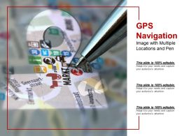 Gps Navigation Image With Multiple Locations And Pen