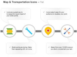 Gps Navigation Wrench Tools Service Ppt Icons Graphics