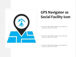 Gps Navigator As Social Facility Icon