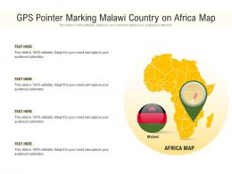 GPS Pointer Marking Malawi Country On Africa Map